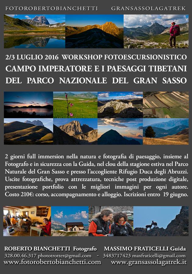 Workshop sul Gransasso 2016