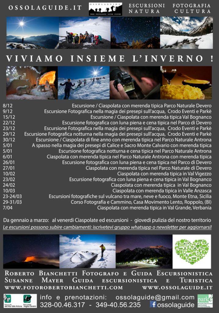 locandina escursioni invernali ossolaguide 2019 fronte mail