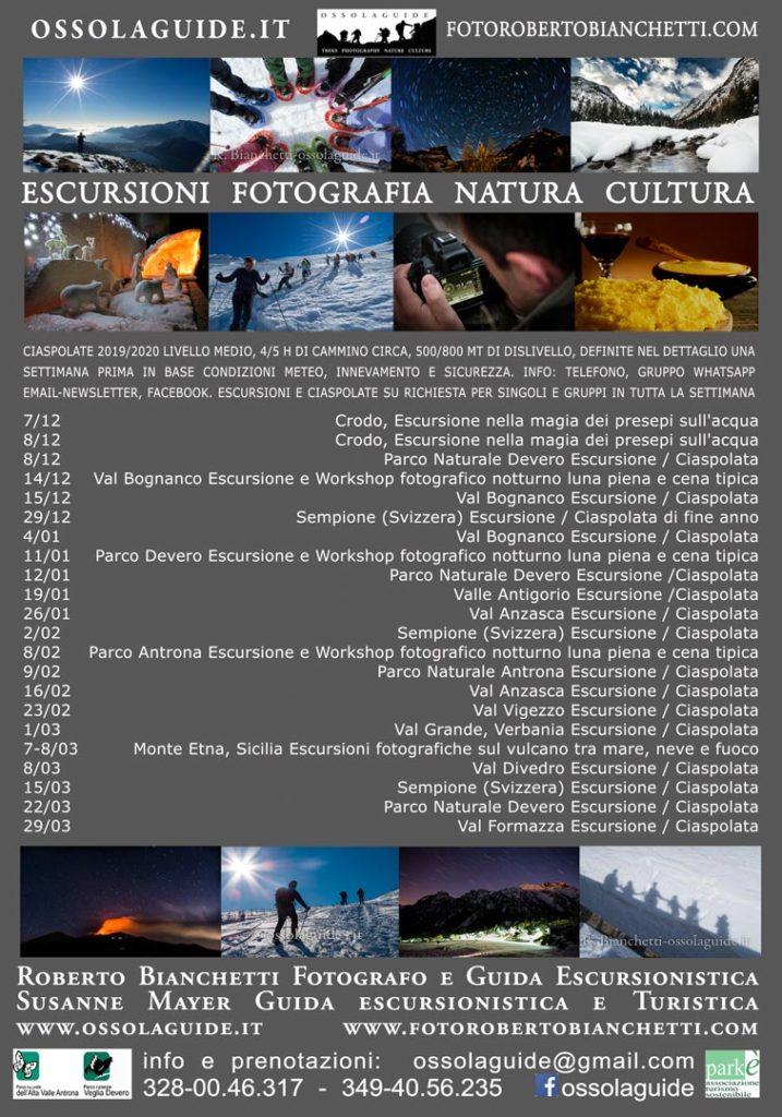 locandina escursioni invernali ossolaguide 2020 web